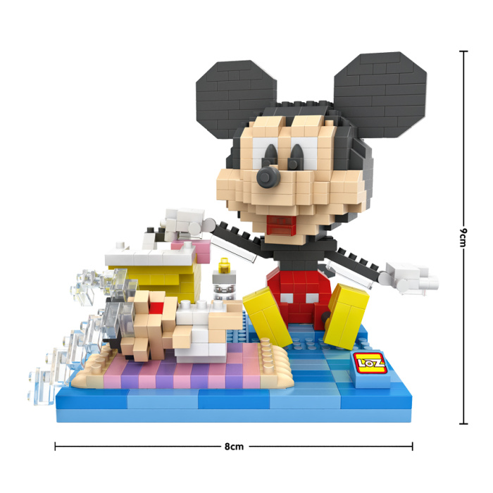米妮米奇 拼装益智积木儿童玩具