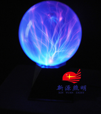 Blue orb spark 6 inch coreless ion crystal ball ball ball electrostatic magic lamp