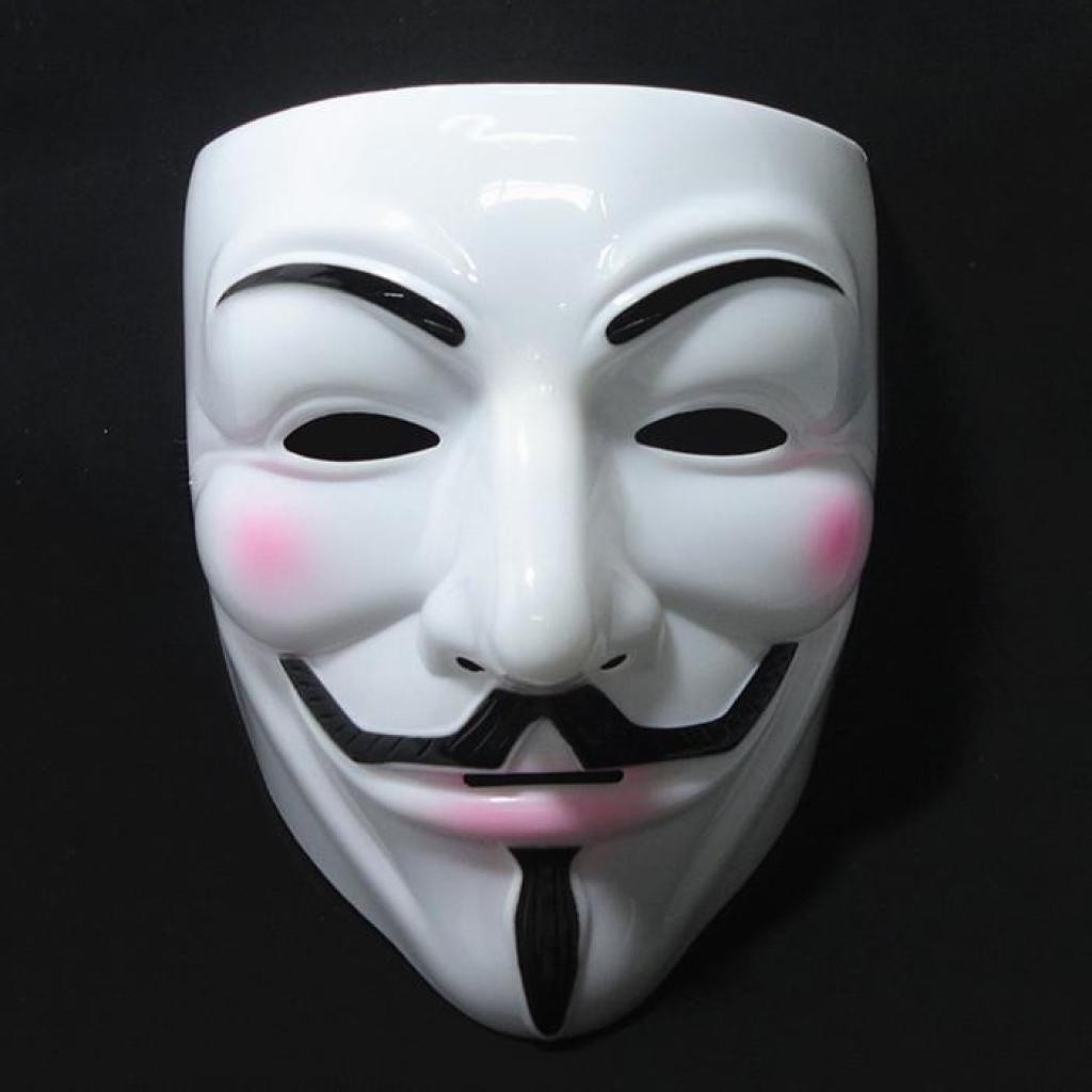 加厚款v字面具仇杀队面具/v怪客面具 万圣节全脸面