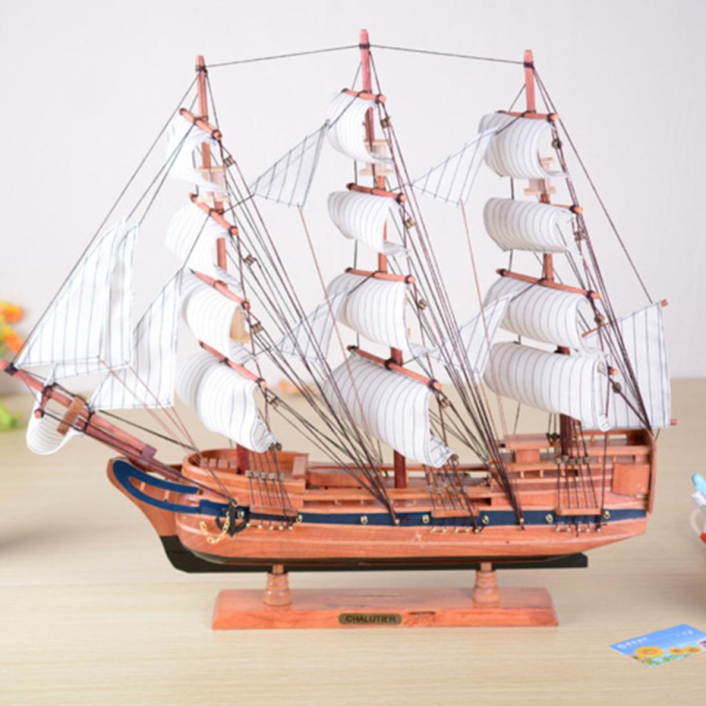 60cm实木帆船 家居摆件