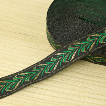 Green sprout shaped lace ribbon national hat webbing garment accessory