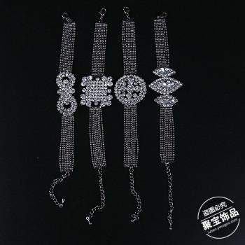 Diamond Jewelry Diamond Bracelet Chain grip alloy jewelry lady temperament