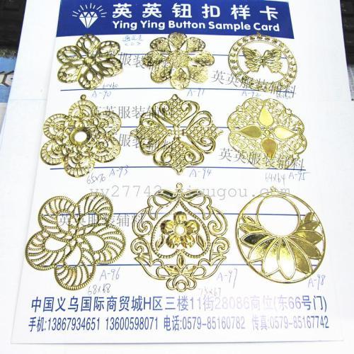 Hollow tin iron decoration flower crafts accessories
