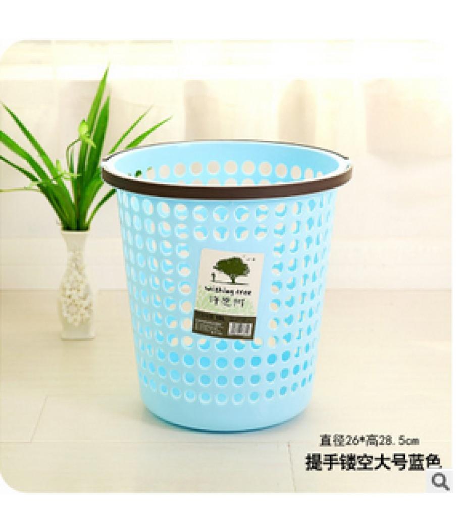 9643厨房家用塑料垃圾桶创意镂空垃圾桶手提带压边