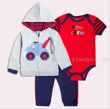 bodysuits Foreign trade baby clothes three sets, three sets of baby jacket jacket