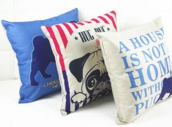 数码印花卡通动物 抱枕 抱枕套