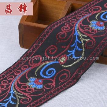 Folk style gold lace ribbon belt webbing manual material garment accessory