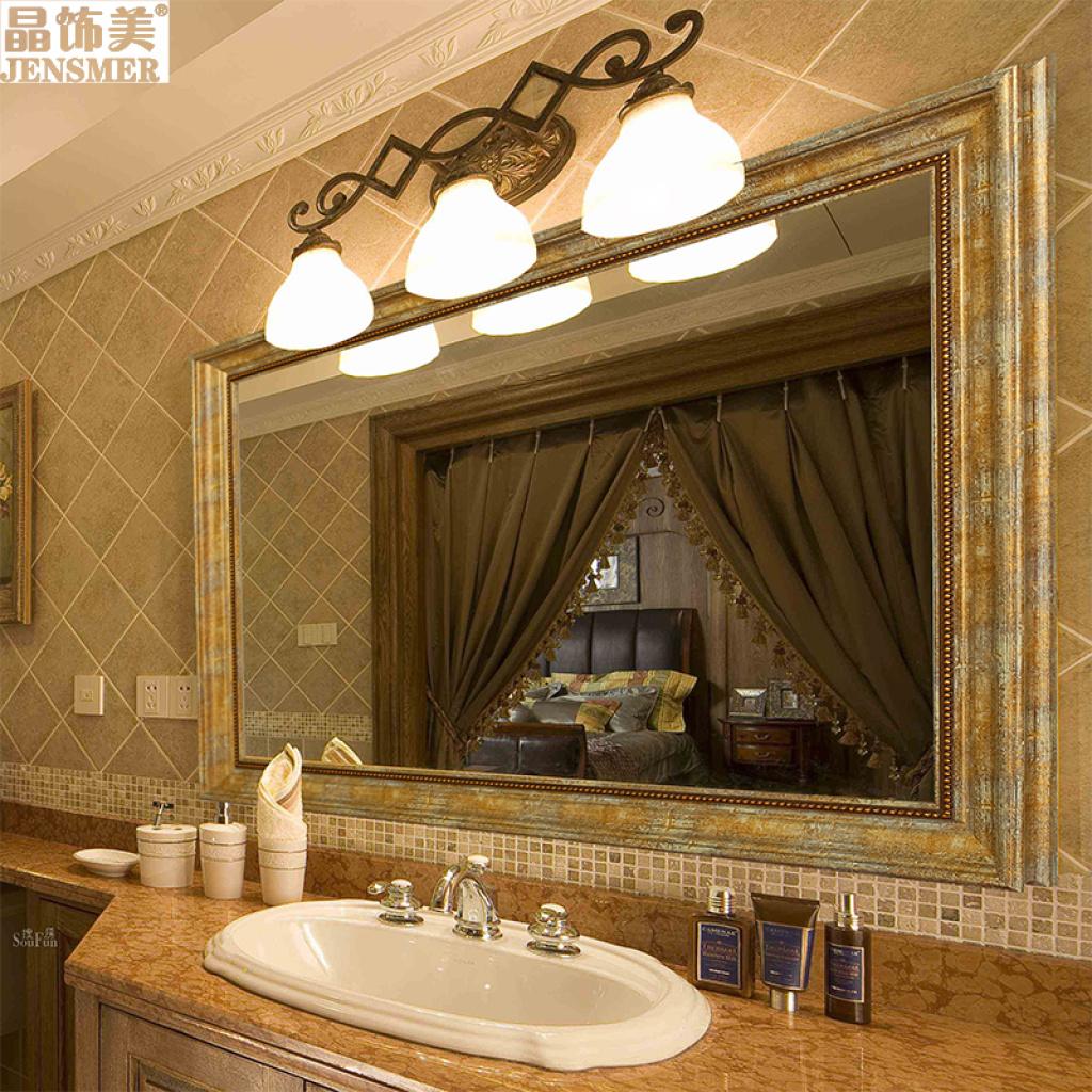 超豪华欧式浴室镜防水镜子卫浴镜洗手间卫生间镜子