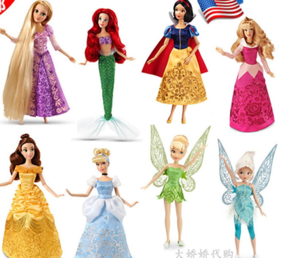 迪士尼 芭比娃娃冰雪奇缘长发白雪公主美人鱼