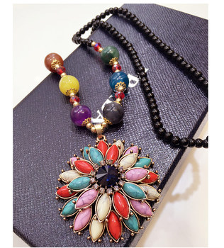 Korea retro Necklace Womens long winter sweater chain pendant pendant jewelry accessories wholesale