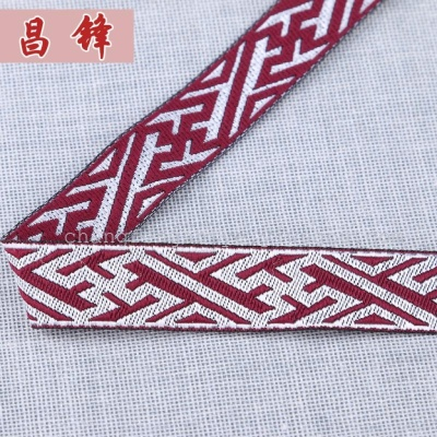 Folk style lace woven label 1.5cm geometric figure ribbon Crafts accessories