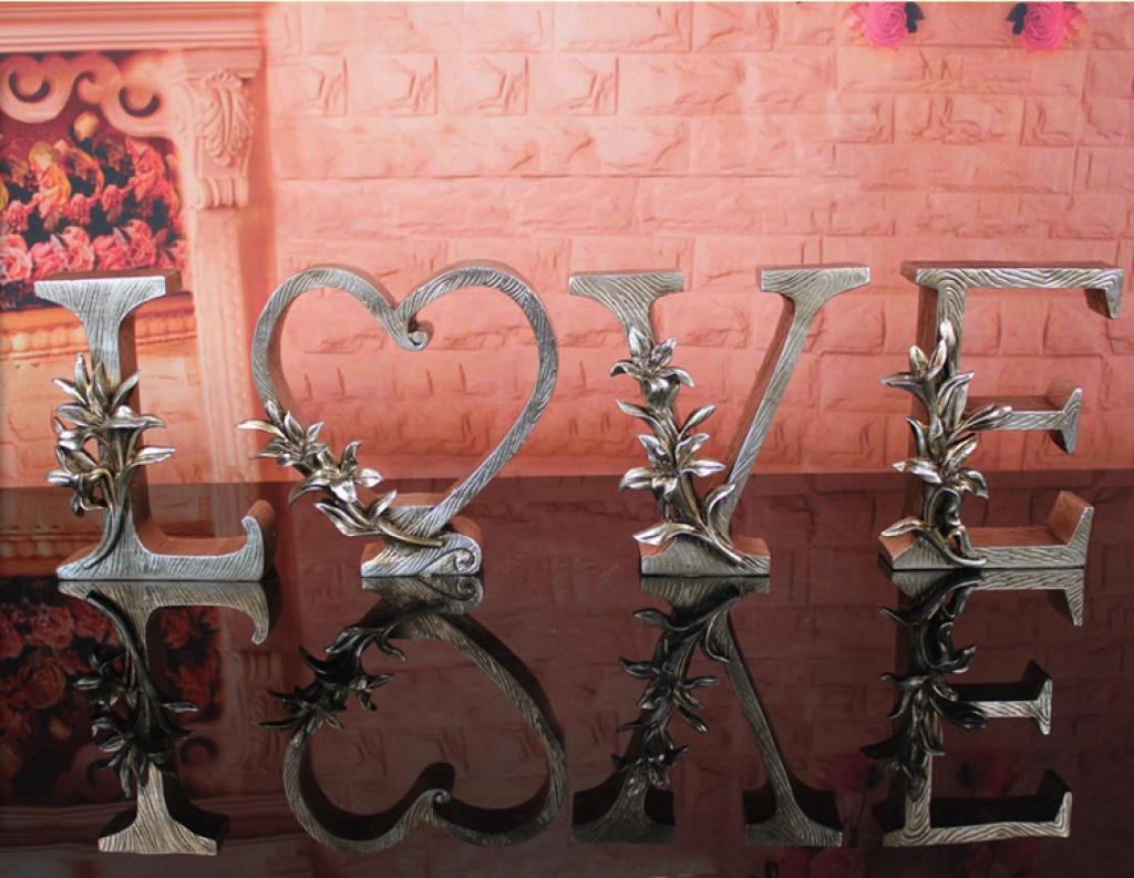 电视柜love摆件创意欧式客厅工艺礼品