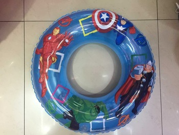 Inflatable toys pvc60CM transparent cartoon swimming circle small yellow people 2 small yellow people 3
