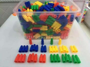 The bucket bullet assembled puzzle toy bricks early snowflake baby children's educational toys