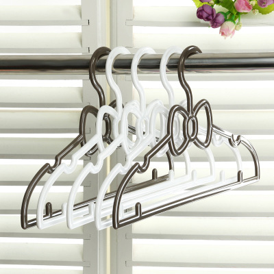 Plastic butterfly children's clothes hanger baby candy color baby clothes rack 5