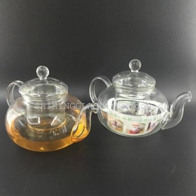 耐热高温玻璃茶具花草茶具加厚玻璃壶水果茶明火直烧