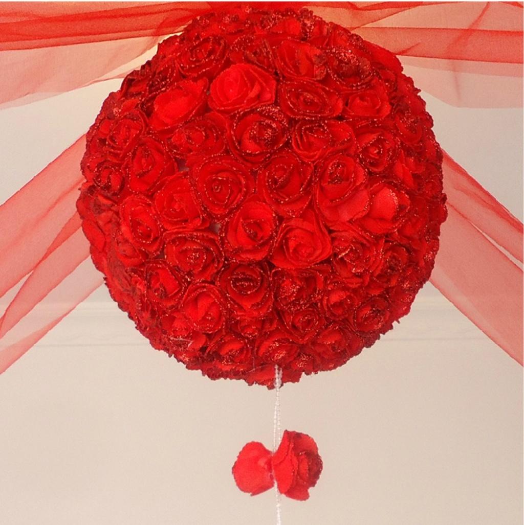 创意婚房布置花球 结婚装饰拉花 婚庆用品 客厅新房拉