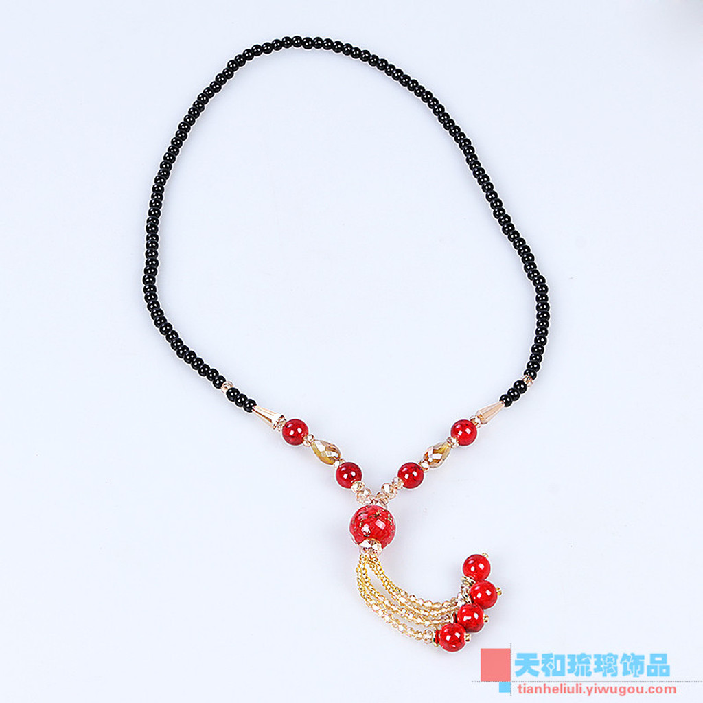 Supply handmade fashion bohemia old glass necklace autumn for Wind chain online