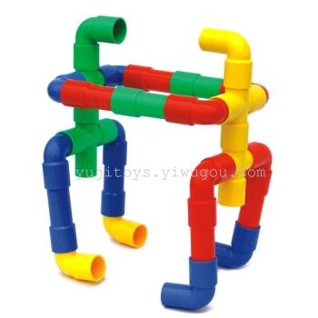 Pipeline geometry snowflake plastic toy bricks assembled baby children's educational toys