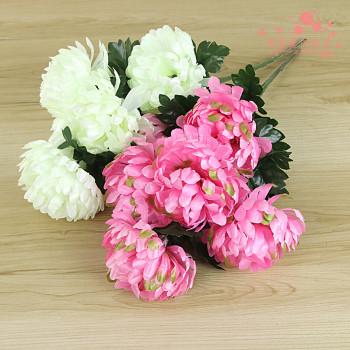 The simulation of single head 7 artificial flowers flower chrysanthemum flower decoration decoration grave worship