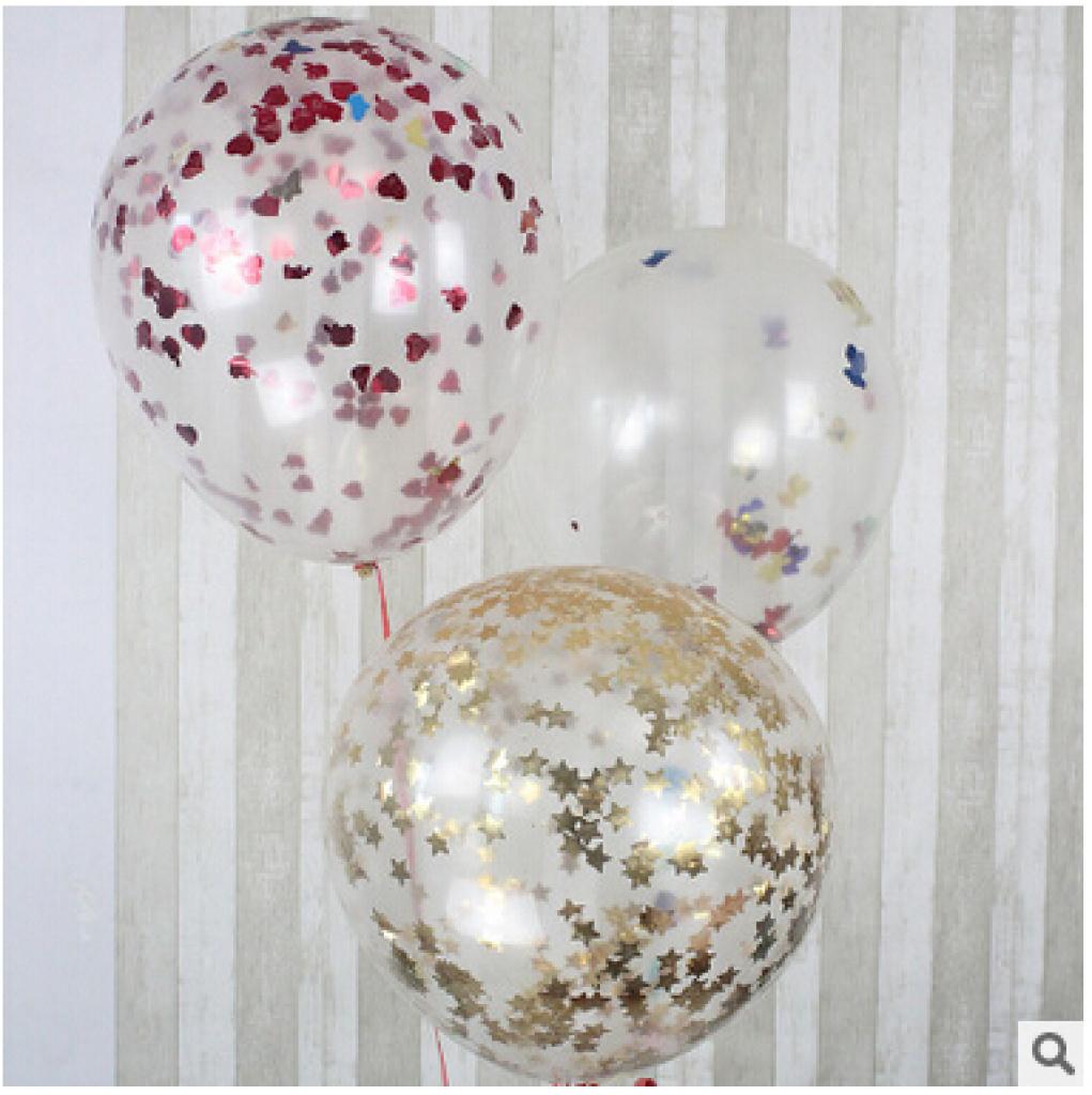 氛布置 气球亮片苹果 心形 小熊 爱心 五角星 蝴蝶 亮片贴