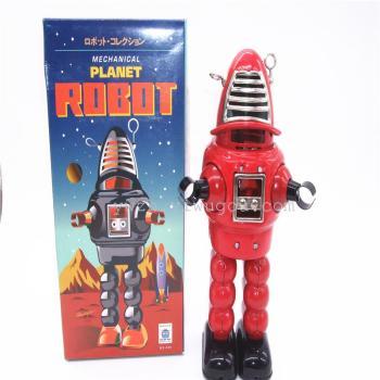 发火机器人铁皮玩具ms430发条玩具复古怀旧机械