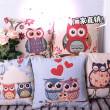 The owl jacquard cushion hug Pillowcase