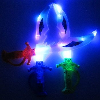 Electronic luminous simulation toys wholesale knife sword stall selling