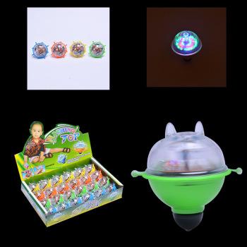 Colorful flash inertia friction gyro electronic light-emitting gyro children's educational toys wholesale