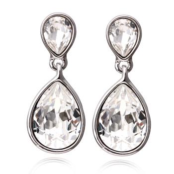 925 silver drops using SWAROVSKI Elements Crystal Earrings
