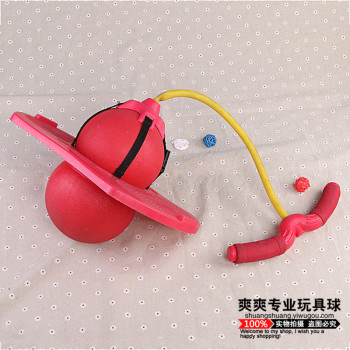 The new fitness increased with pull rope jumping ball activity oxygen balloon