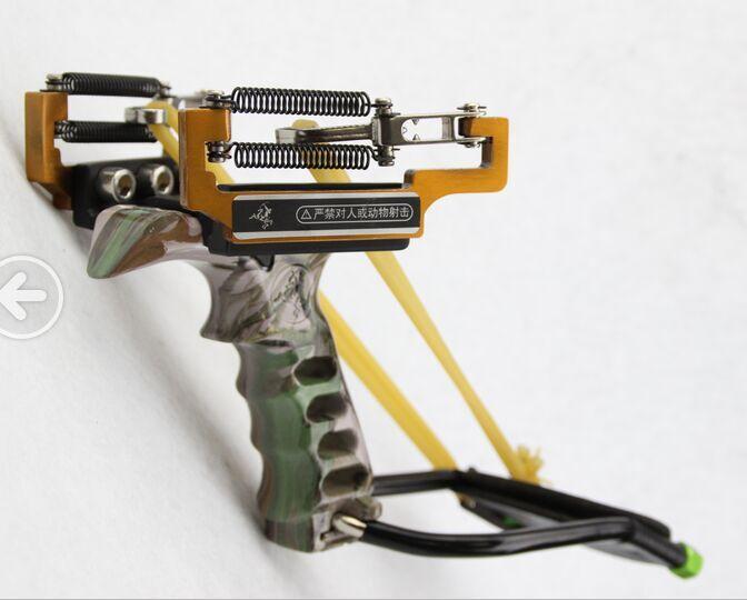 户外竞技弓 狙击弓 手枪式教官五代弹弓 带弹簧重型弓 买就送