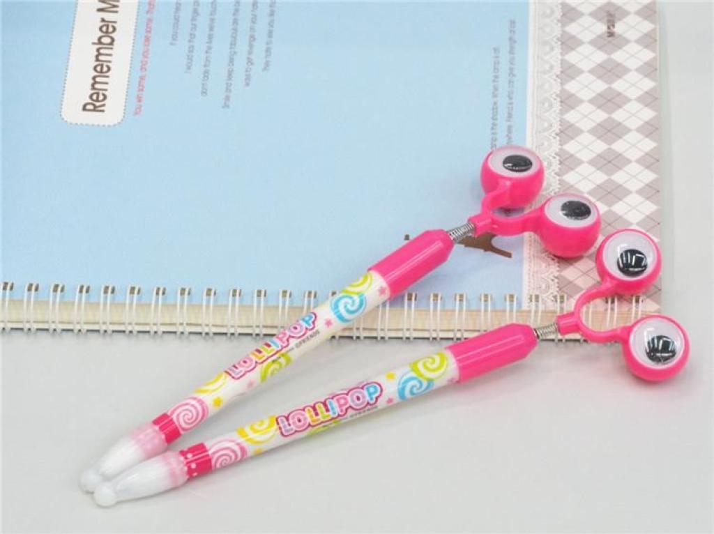 日韩创意文具可爱卡通大眼睛圆珠笔青蛙造型广告笔