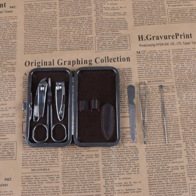 Fashion digital printing bronzing Manicure suit 6 pieces of nail clippers set