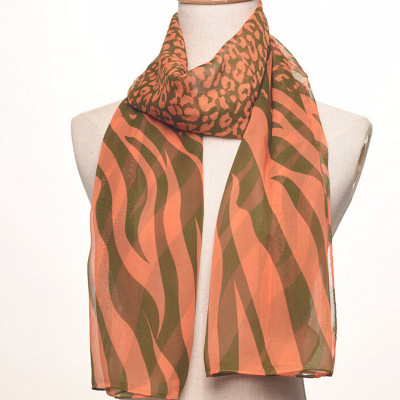 The new lady printed chiffon scarf, zebra stripes, zebra stripes and beach towel.