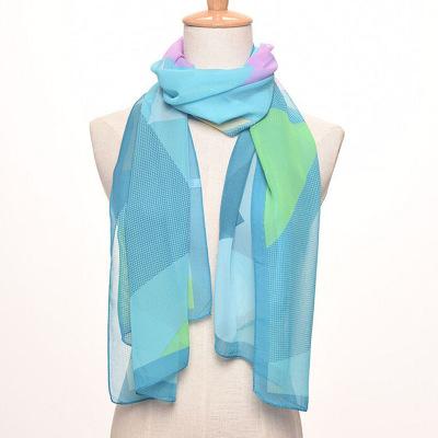 Scarf: 100 take chiffon long silk Scarf summer sun cape manufacturer direct sale.