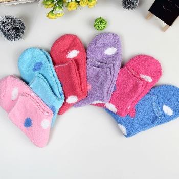 Sweet women's Chenille dot socks