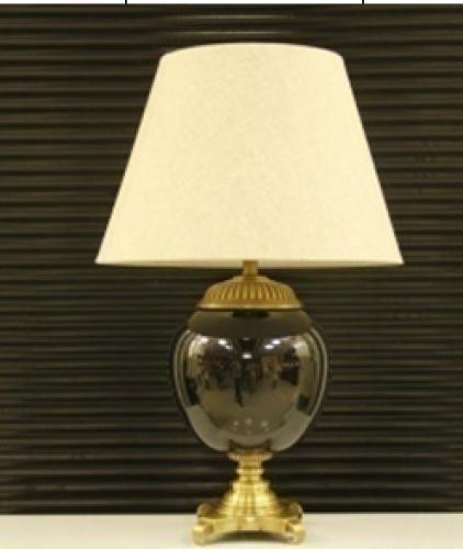 Beautiful bronze decoration high-grade ceramic table lamp base lamp porcelain export craft porcelain ball