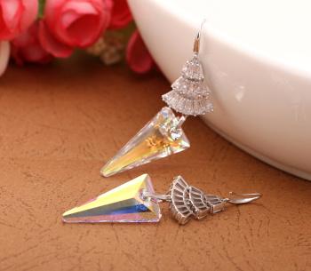 Austria imported 925 Sterling Silver Earrings Spike luxury