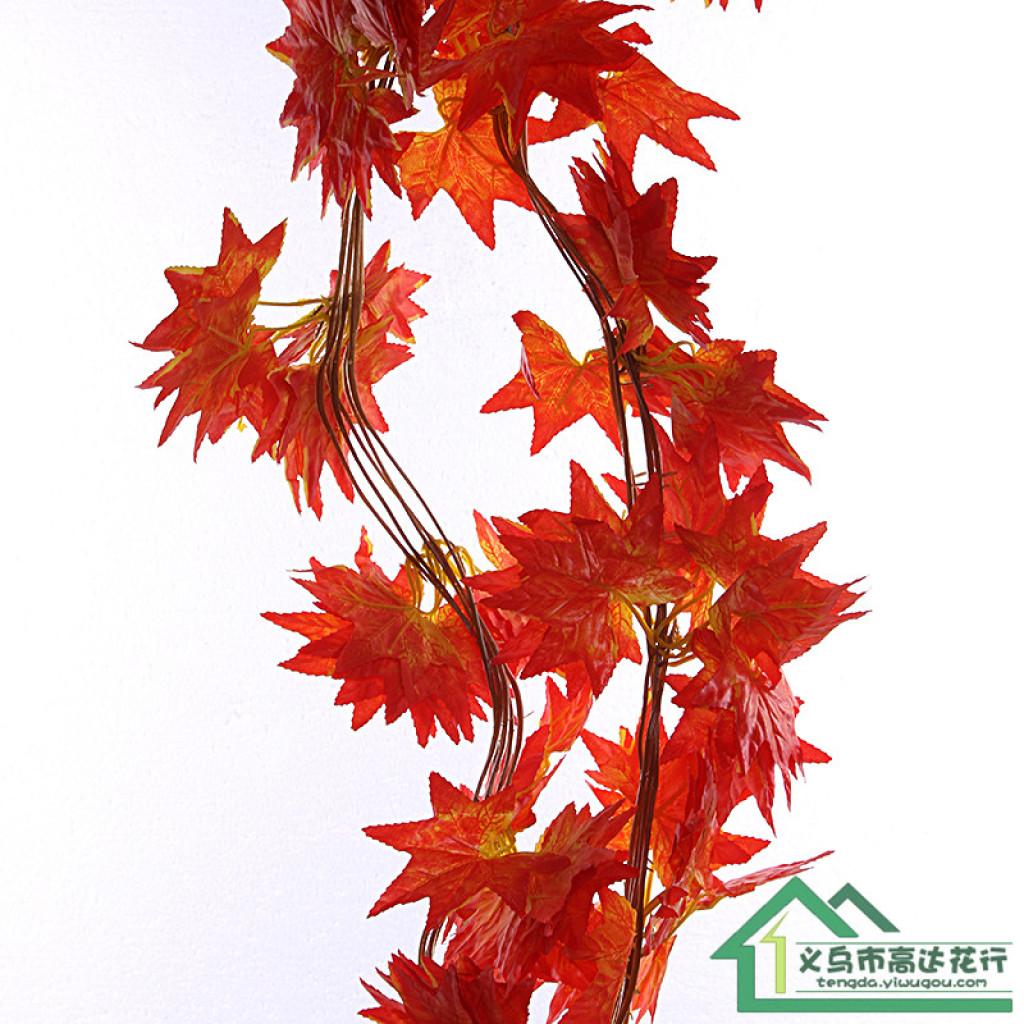 仿真藤条绿叶吊顶装饰管道装饰塑料花假花藤条假树叶