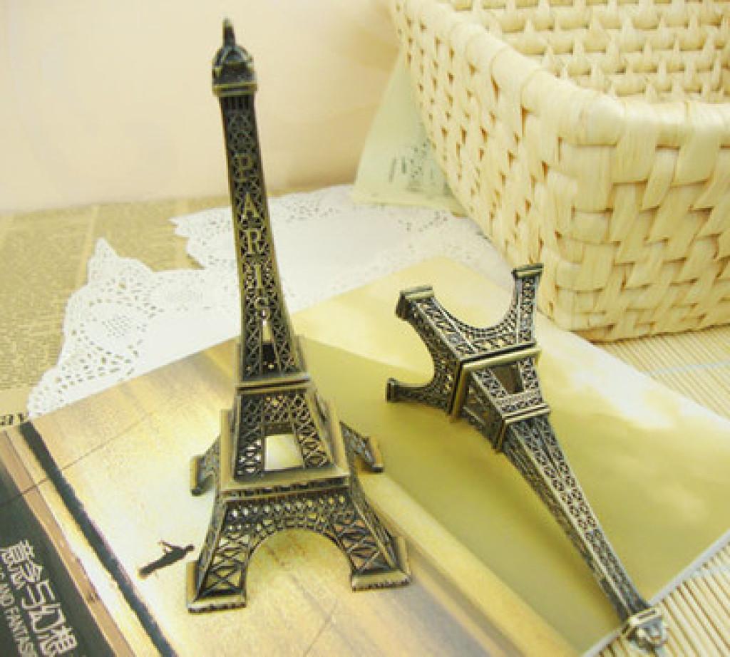 zakka杂货巴黎埃菲尔铁塔金属模型