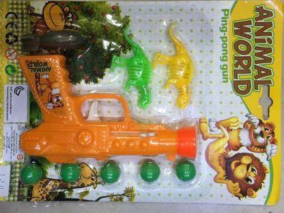 Elastic inertia pingpong gun toy gun children selling toy pistol stall goods wholesale sales