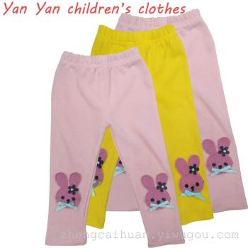 new Korean girls wear spring Leggings thin cartoon all-match slim pants