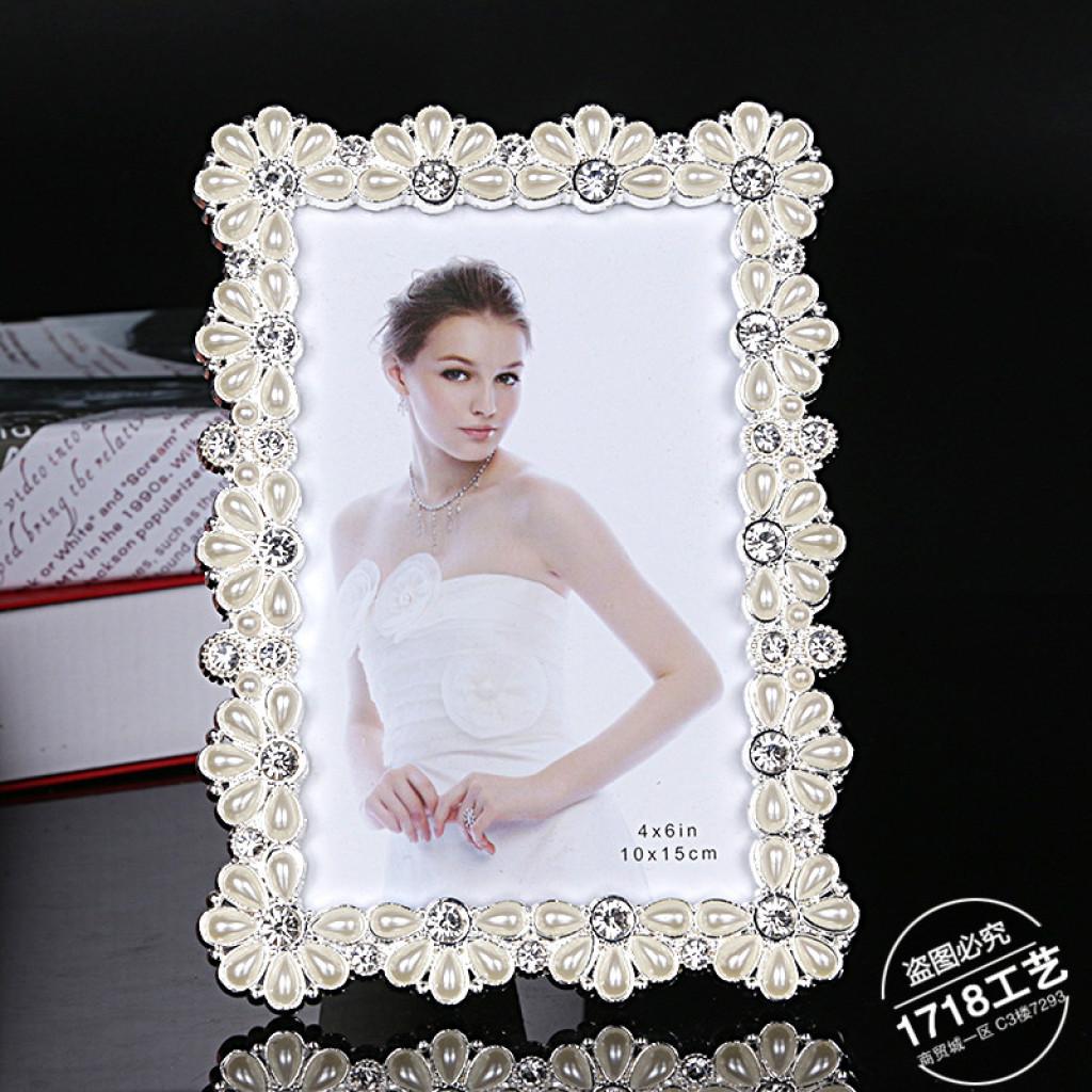 高档美式锌合金长方形婚纱照生活照相框摆台