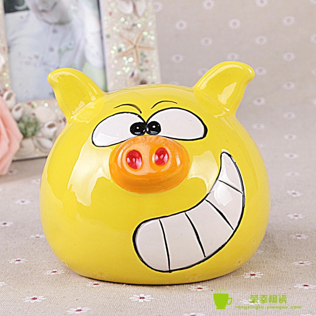 陶瓷儿童小金猪存钱罐创意卡通可爱动物储蓄罐