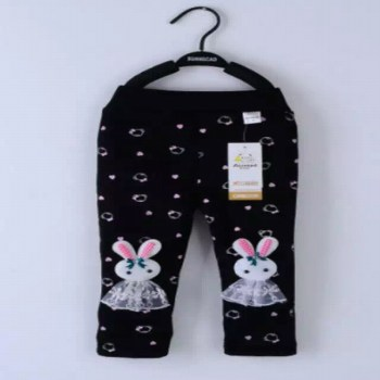 Female baby warm pants lovely super soft fabric, 1 to 3 years old