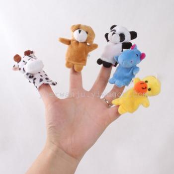 毛绒指偶 动物玩偶10款动物 讲故事玩具