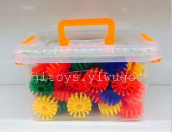 Manufacturers selling snowflake plastic gear blocks assembled baby puzzle educational toys