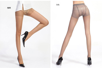 The spring and summer, the core spun silk pantyhose invisible breathable