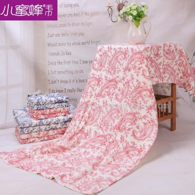 China wind increased thick blue and white porcelain adult bamboo fiber towel towel soft hair